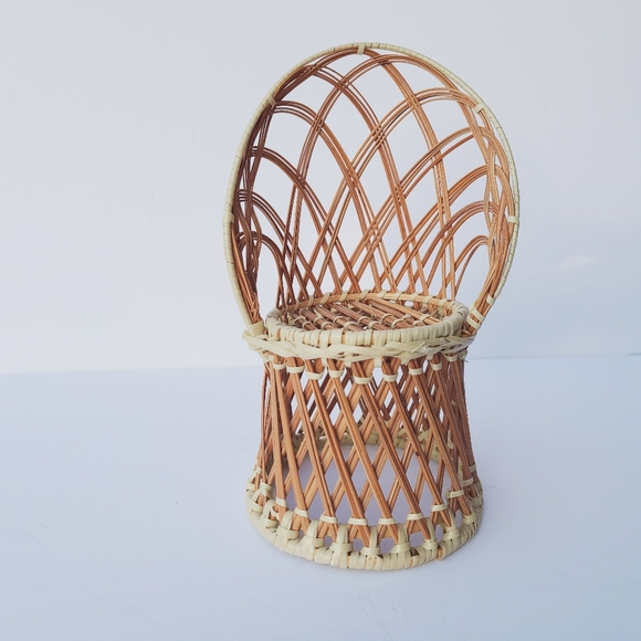 Vintage peacock chair plant holder